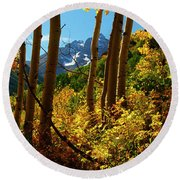 Autumn Brilliance 2 Round Beach Towel