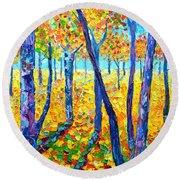Autumn Colors Round Beach Towel by Ana Maria Edulescu