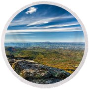 Autumn Colors In The Blue Ridge Mountains Round Beach Towel