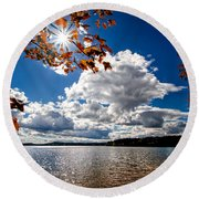 Autumn  Confidential  Round Beach Towel