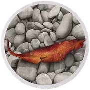 Autumn Epilogue Round Beach Towel