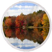 Autumn Explosion Round Beach Towel