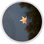 Autumn Floating By Round Beach Towel