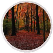 Autumn IIi Round Beach Towel