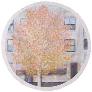 Autumn In Chicago Round Beach Towel