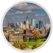 Autumn In Kansas City Round Beach Towel