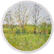 Autumn In Kentucky Round Beach Towel