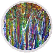 Autumn In Muskoka Round Beach Towel by Claire Bull