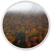 Autumn In New Hampshire Round Beach Towel