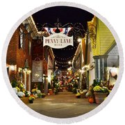 Autumn In Penny Lane - Rehoboth Beach Delaware Round Beach Towel