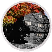 Autumn In Salem Round Beach Towel