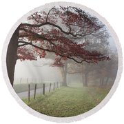Autumn In The Cove IIi Round Beach Towel by Douglas Stucky