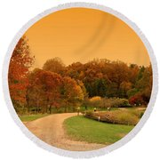 Autumn In The Park - Holmdel Park Round Beach Towel