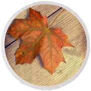 Autumn Leaf Round Beach Towel