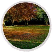 Round Beach Towel featuring the photograph Autumn by Nina Ficur Feenan