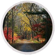 Autumn Paths    No.2 Round Beach Towel