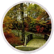 Autumn Peace Round Beach Towel