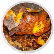 Autumn Pile Round Beach Towel