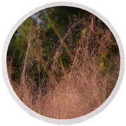 Autumn Pink Round Beach Towel by Gary Smith