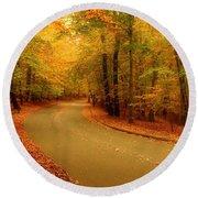 Autumn Serenity - Holmdel Park  Round Beach Towel