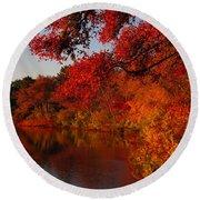 Round Beach Towel featuring the photograph Autumn Splendor  by Dianne Cowen