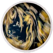 Autumn Storm Round Beach Towel by Steven Milner