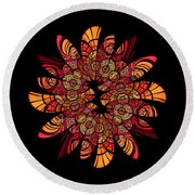 Autumn Wreath Round Beach Towel