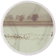 Autumnal Dreamland Iv Round Beach Towel