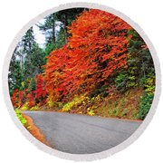 Round Beach Towel featuring the photograph Autumn's Glory by Lynn Bauer