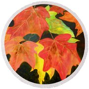 Autumn's Glow  Round Beach Towel