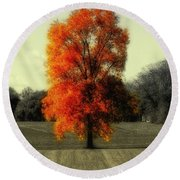 Autumn's Living Tree Round Beach Towel