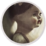 Round Beach Towel featuring the photograph Ava by Amy Weiss
