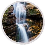 Avalanche Falls2 Round Beach Towel by Mike Ste Marie
