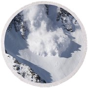 Avalanche II Round Beach Towel