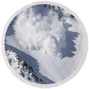 Avalanche IIi Round Beach Towel