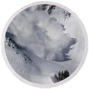 Avalanche Iv Round Beach Towel