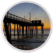 Avalon Pier Round Beach Towel