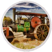 Aveling Porter Road Roller Round Beach Towel