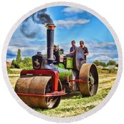 Aveling Roller Round Beach Towel