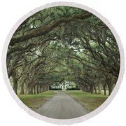 147706-avenue Of The Oaks  Round Beach Towel