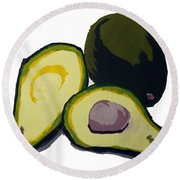 Avocado  Round Beach Towel