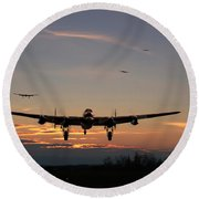 Avro Lancaster - Dawn Return Round Beach Towel