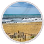 Awaiting The Storm - Sandbridge Virginia Round Beach Towel