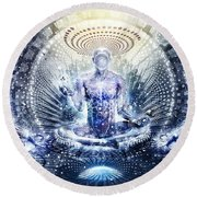 Awake Could Be So Beautiful Round Beach Towel