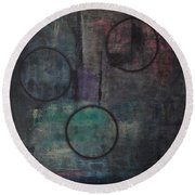 Aware Of Silence Round Beach Towel
