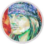 Axl Rose Portrait.2 Round Beach Towel