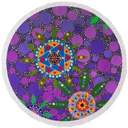 Ayahuasca Vision - The Healing Power Of Plants Round Beach Towel