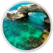 Ayia Napa In Cyprus Round Beach Towel