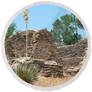Aztec Ruins National Monument Round Beach Towel