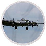 B-17 Yankee Lady Round Beach Towel